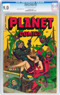 Golden Age (1938-1955):Science Fiction, Planet Comics #69 (Fiction House, 1952) CGC VF/NM 9.0 Off-white towhite pages....