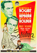"Movie Posters:Romance, Sabrina (Paramount, 1954). Spanish One Sheet (39.25"" X 42"").. ..."