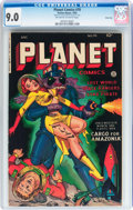 Golden Age (1938-1955):Science Fiction, Planet Comics #70 River City pedigree (Fiction House, 1953) CGCVF/NM 9.0 Off-white to white pages....