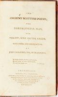 Books:Literature Pre-1900, James V, King of Scotland. Two Ancient Scottish Poems; The Gaberlunzie- Man And Christ's Kirk On The Green. Wi...