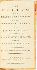 Books:Literature Pre-1900, Pottinger, Israel attrib. [Richard Brinsley Sheridan] The Critic or a Tragedy Rehearsed. London: S.Bladon, 1780....