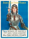 "Movie Posters:War, World War I Propaganda (United States Treasury, 1918). War SavingStamps Poster (30.5"" X 40"") ""Joan of Arc Saved France."". ..."