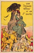 """Movie Posters:Miscellaneous, French World War I Propaganda Poster (1918). French Affiche (31"""" X47"""") """"Un dernier effort et on l'aura"""" (One last try a..."""