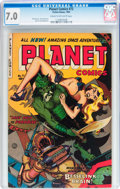 Golden Age (1938-1955):Science Fiction, Planet Comics #72 (Fiction House, 1953) CGC FN/VF 7.0 Cream tooff-white pages....