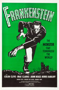 "Movie Posters:Horror, Frankenstein (Universal, R-1960). One Sheet (27"" X 41"") GreenStyle.. ..."