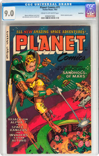 Planet Comics #71 Northford pedigree (Fiction House, 1953) CGC VF/NM 9.0 Cream to off-white pages