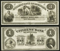 Obsoletes By State:Louisiana, New Orleans, LA - Citizens' Bank of Louisiana $1 18__ and $3 18__ Remainders. ... (Total: 2 notes)