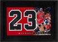 Basketball Collectibles:Others, Circa 2000 Michael Jordan Signed UDA Jersey Number Display....