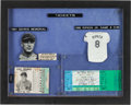 Baseball Collectibles:Tickets, 1941-95 Lou Gehrig & Cal Ripken Ticket Stub Display....