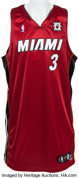 f7076fc9aec ... Basketball Collectibles:Uniforms, 2007-08 Dwyane Wade Game Worn Miami  Heat Jersey With ...