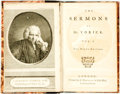 "Books:Literature Pre-1900, Sterne, Lawrence. The Sermons of Mr. Yorick. London: vols. 1& 2. ""Ninth Edition"" London, J. Dodsley 1768. Vols. 3 &...(Total: 4 Items)"
