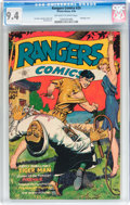 Golden Age (1938-1955):Adventure, Rangers Comics #29 (Fiction House, 1946) CGC NM 9.4 Off-white to white pages....