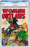 Golden Age (1938-1955):War, Women Outlaws #nn (Fox Features Syndicate, 1949) CGC NM- 9.2Off-white to white pages....