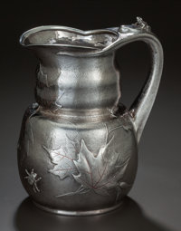 A TIFFANY & CO. SILVER AND MIXED METALS WATER PITCHER, New York, New York, circa 1879-1891 Marks: TIFFANY &a...