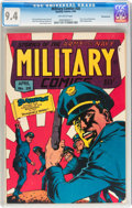 Golden Age (1938-1955):War, Military Comics #28 Pennsylvania pedigree (Quality, 1944) CGC NM9.4 Off-white pages....