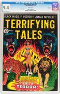Golden Age (1938-1955):Horror, Terrifying Tales #11 Spokane pedigree (Star Publications, 1953) CGCNM 9.4 White pages....