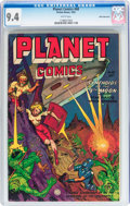 Golden Age (1938-1955):Science Fiction, Planet Comics #68 White Mountain pedigree (Fiction House, 1952) CGCNM 9.4 White pages....