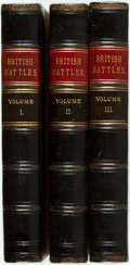 Books:World History, James Grant. British Battles. London: Cassell Petter &Galpin, [n.d.]. Three volumes. Half leather over cloth. FFEP ...(Total: 3 Items)