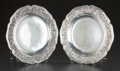 Silver Holloware, Continental:Holloware, A PAIR OF GIUSEPPE VERNONI PIEDMONTESE ITALIAN SILVER PLATES,Turin, Italy, circa 1814-1824. Marks: GV, D, (crown overs... (Total: 2 )