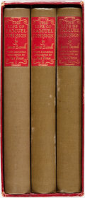 Books:Biography & Memoir, [Limited Editions Club] James Boswell. The Life of SamuelJohnson. Limited Editions Club, 1938. Edition limited to 1...(Total: 3 Items)