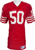 Football Collectibles:Uniforms, 1980's Riki Ellison Game Worn San Francisco 49ers Jersey, MEARS A10....