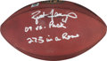 Football Collectibles:Balls, 2009 Brett Favre Game Used, Signed and Inscribed Minnesota Vikings Football - Used 10/5 Vs. Green Bay....