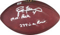 Football Collectibles:Balls, 2009 Brett Favre Game Used, Signed and Inscribed Minnesota Vikings Football - Used 11/9 Vs. Green Bay....
