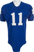 Football Collectibles:Uniforms, Mid 1960's Earl Morrall Game Worn New York Giants Jersey - With Signed Style Match Photograph....