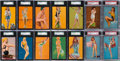 "Non-Sport Cards:Sets, 1940's Mutoscope ""Hot Cha Girls"" Near Set (60/65) Plus 14Variations. ..."