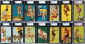 "Non-Sport Cards:Sets, 1940-45 Mutoscope ""Follies Girls"" PSA and SGC Graded Near Set(29/32) Plus Five Scarce Post Card Back Variants. ..."
