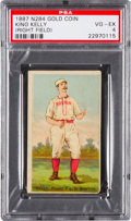 Baseball Cards:Singles (Pre-1930), 1887 N284 Gold Coin King Kelly, Right Field PSA VG-EX 4. ...