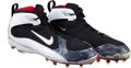 Football Collectibles:Others, 2008 Plaxico Burress Game Worn Cleats, Worn To Catch Super Bowl XLII Game Winning Touchdown With Signed Photograph. ...