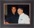 Autographs:Photos, Circa 1990 Mickey Mantle & Muhammad Ali Signed Photograph....