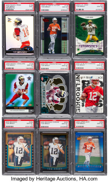 2000 Multi Brand Tom Brady Rookie Card Psa Graded Collection