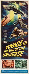 "Movie Posters:Science Fiction, Voyage to the End of the Universe (American International, 1964).Insert (14"" X 36""). Science Fiction.. ..."