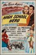 "Movie Posters:Comedy, High School Hero (Monogram, 1946). One Sheet (27"" X 41"") & Lobby Card Set of 8 (11"" X 14""). Comedy.. ... (Total: 9 Items)"