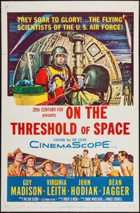 """On the Threshold of Space & Other Lot (20th Century Fox, 1956). One Sheet (27"""" X 41""""), Lobby Card Set..."""