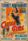 "Movie Posters:War, China Girl (20th Century Fox, 1942). One Sheet (27"" X 41""). War....."