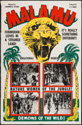 "Movie Posters:Adventure, Jaws of the Jungle (Continental, R-1940s). One Sheet (28"" X 42"").Adventure. Reissued as Malamu.. ..."