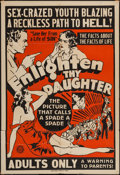 "Movie Posters:Exploitation, Enlighten Thy Daughter (Sack, R-1930s). Locally Produced One Sheet(28"" X 42""). Exploitation.. ..."