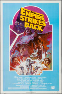 """The Empire Strikes Back (20th Century Fox, R-1982). One Sheet (27"""" X 41"""") Light Blue Style. Science Fiction..."""