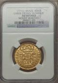 Brazil, Brazil: Jose I gold 4000 Reis 1771 AU Details (Mount Removed)NGC,...