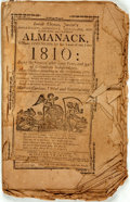 Books:Americana & American History, [Almanac] Isaiah Thomas, Junior's Almanack for the Year of Our Lord1810. Worcester: Isaiah Thomas, [1810]. Self-wrappers. E...