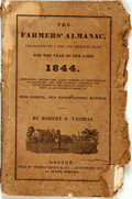 Books:Americana & American History, [Almanac] Robert B. Thomas. The Farmers' Almanac, for the Yearof Our Lord 1844. Boston: Thomas Groom, [1844]. Origi...