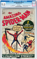 Silver Age (1956-1969):Superhero, The Amazing Spider-Man #1 (Marvel, 1963) CGC VF/NM 9.0 Whitepages....