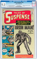 Silver Age (1956-1969):Superhero, Tales of Suspense #39 (Marvel, 1963) CGC NM- 9.2 Off-white to whitepages....
