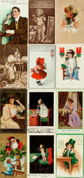 Miscellaneous:Postcards, [Postcards] Group of Thirty-One Depicting People Using EarlyTelephones. Various dates. Some used. A bit soiled. Very good. ...