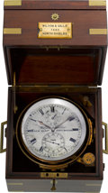 Timepieces:Clocks, Wilson & Gillie Two Day Marine Chronometer. ...
