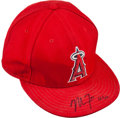 Baseball Collectibles:Hats, 2012 Mike Trout Game Worn Anaheim Angels Cap With Trout Signed Letter. ...