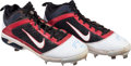 Baseball Collectibles:Others, 2011 Mike Trout Game Worn Rookie Cleats with Trout Letter....